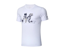 Buy Table Tennis Clothes - Men's T Shirt [WHITE] for Badminton